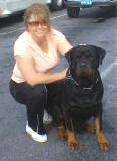 BUCHANANFPC PHOTO (JOANNA TOMS AND HER PRIZED ROTTWEILER)
