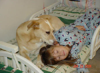 BUCHANANFPC PHOTO (RENEGADE AND SAHRA WISE IN RENE'S TODDLER BED)